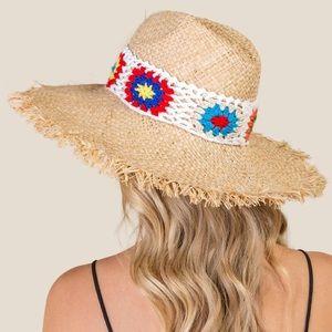 San Diego Hat Company   Dahlia Crochet Straw Hat